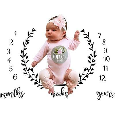 Milestone Newborn BABY Blanket Birthday Gift Shower Boy Girl Muslin Cards Wrap L