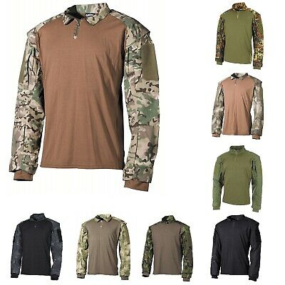 US Tactical Hemd langarm Herren Army Tarn Swat Paintball Neu Shirt longsleeve BW