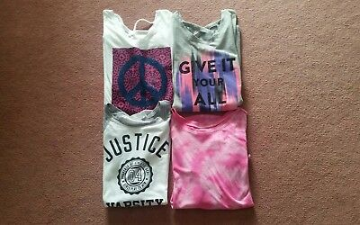 Lot Of 4 Justice Tops Size 16/18