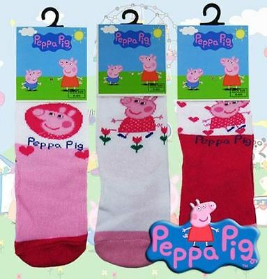 Girls Peppa Pig Socks Ankle Socks