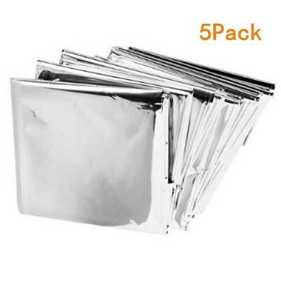 ANGTUO 5 Pack Emergency Blanket Survival Reflective Thermal First Aid Foil