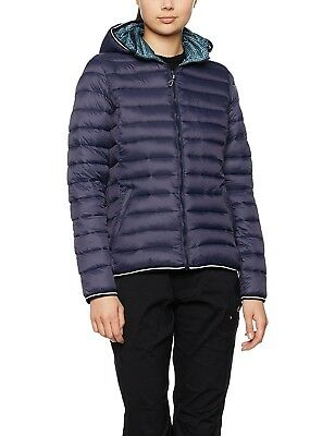 (40, Black Blue) - CMP Women's Down Jacket. Free Delivery