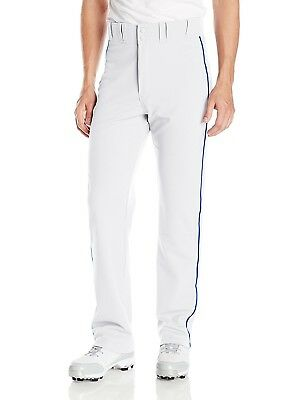 (Large, White/Royal) - Easton Men's Rival 2 Piped Baseball Pants. Free Delivery