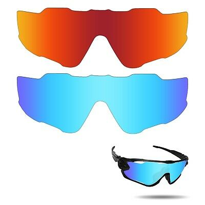 (Fire Red & Ice Blue) - Fiskr Anti-saltwater Polarised Replacement Lenses for