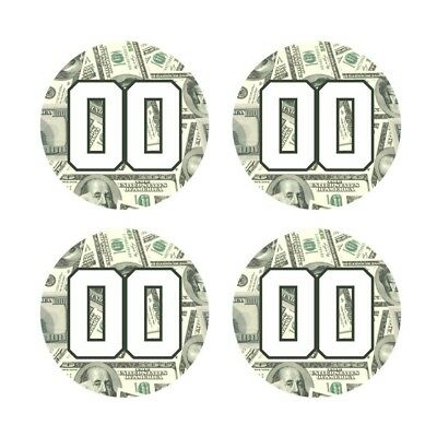 Custom Baseball Bat Knob Decal Sticker Set - 100 Dollar Bill Money Decal