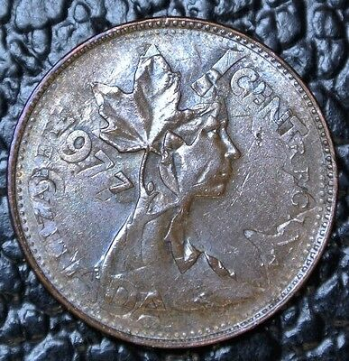 1977 Canada One Cent - Double Struck Error Coin - Flip Strike - Very Rare