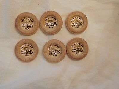 Lot No. 2 Lot Of 6 Rare Hull's Dairy Milk Caps See Discription.waynesboro Pa.