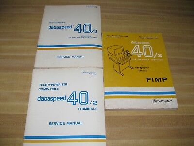 Vintage Bell System Dataspeed Service Manuals(3)