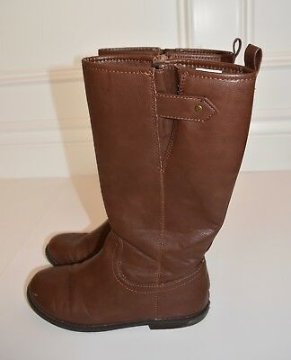 Gap Kids Girls Medium Brown Tall Boots, Size 4 Youth, EUC