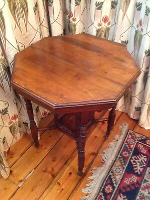Antique Edwardian octagonal occassional table.