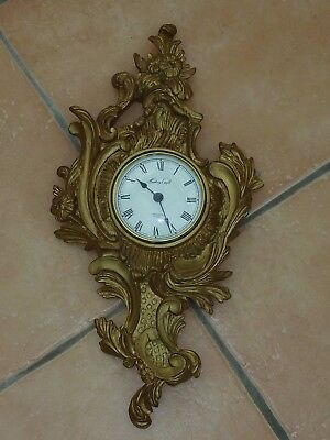 Antique Excellent History Craft Rococo Style Gilded  Wall Clock