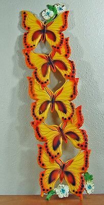 Vintage 1978 Universal Statuary Corp. Butterfly Wall Plaque Homco Syroco Large