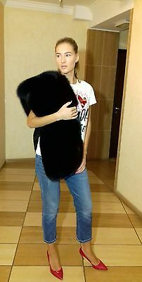 New model! Beautiful Saga Polar Fox Fur stole,cape. Quality guaranteed!
