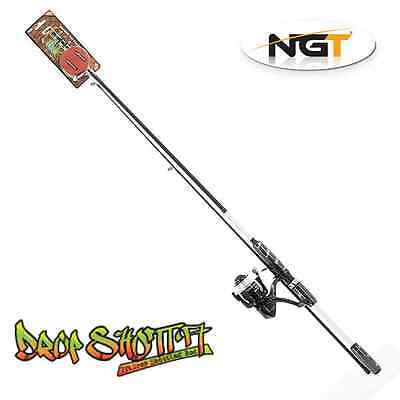 Drop shot rod and reel combo carbon with lures