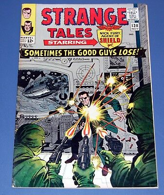 Strange Tales #138 HIGH GRADE VF/NM Marvel Silver Age NICK FURY 1st Eternity