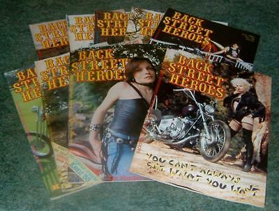 1980's VINTAGE BACK STREET HEROES MAGAZINES x9 IMMACULATE CONDITION HARLEY