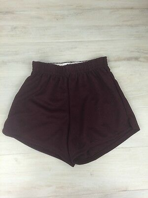Augusta Sportswear Youth Large Athletic Gym Workout Shorts Maroon Polyester