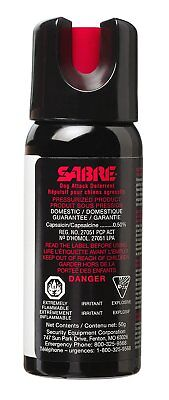 SABRE Camping Hiking Senior Security Dog Safety Deterrent Pepper Dog Spray 50g