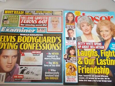 Lot of 2 Closer, National Examiner Magazines August 14, 2017 $10 value! New!