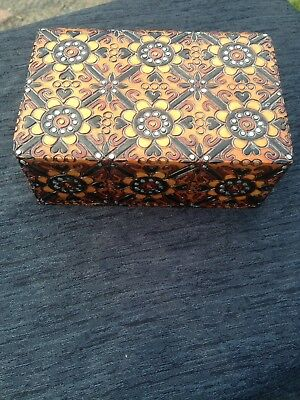Polish Decorative Carved Wooden Box