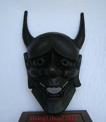 """Handmade Carving & colored drawing wood Mask God Deco Art 13"""""""