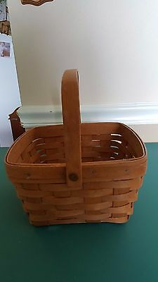 1990 Square Longaberger Handled Basket