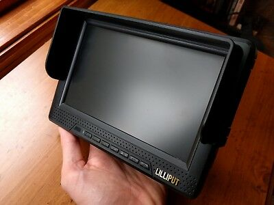 "Lilliput 7"" Inch Monitor HDMI connection, built in battery, cords, charger, etc"
