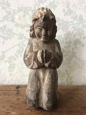 Antique Paper Mache Mould Of A Praying Angel