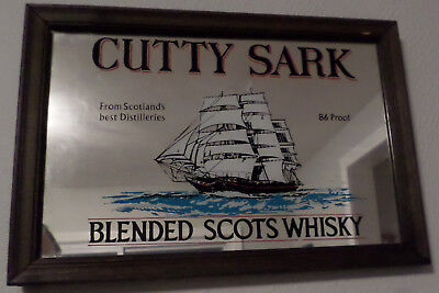 Vintage Cutty Sark Blended Scots Whisky Bar Advertisement Sign