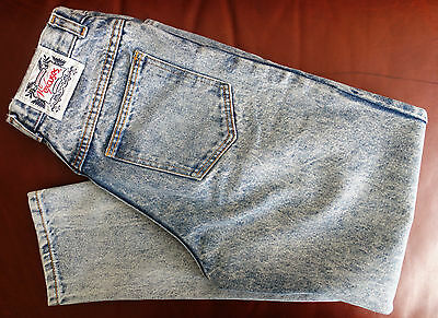 Vintage 1989 Girl's Sz 14 R No Excuses Collector Series Blue Jeans  U.S.A. Made