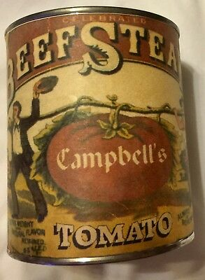 VERY RARE Joseph Campbell reproduction, Advertising Soup, Can, Rau's Store