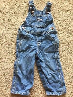 12 Month Jean Overalls Baby Toddler Osh Kosh Boys Girls Unisex Fall Outfit