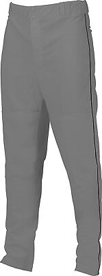 (XX-Large, Gray/Black) - Marucci Adult Elite Double Knit Piped Baseball Pant