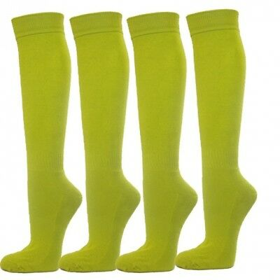 (Large, Lime Green) - Knee High Premium Quality Sports Athletic Baseball