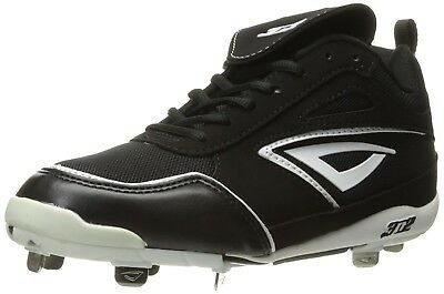 (5, Black/White) - 3N2 Women's Rally Metal Fastpitch. Free Delivery
