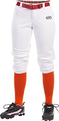 (Small, White) - Rawlings Sporting Goods Girls Launch Pant. Shipping Included