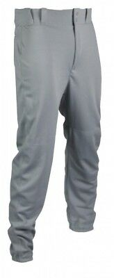 (2X-Large, Grey) - TAG Adult Baseball Pant with Belt Loops (Elastic Bottoms)