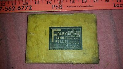 Foley Family Pills One small display carton; Has 5 packs of Foley's and 3 others