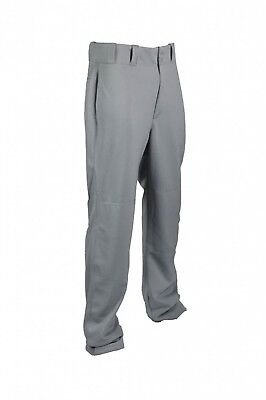 (2X-Large, Grey) - TAG Adult Relaxed Straight Leg Baseball Pant (Open Bottom)