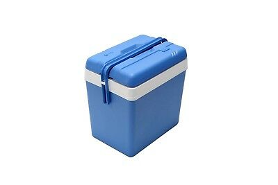 (24 Litre) - Large Blue 24 Litre Cooler Box Picnic Lunch Beach Camping + 2 Ice