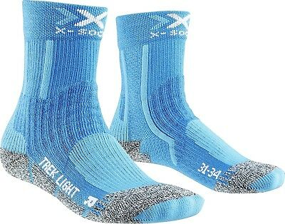 (24/26, Turquoise) - X-Socks Trekking Light Junior 2.0 Tights. Shipping is Free