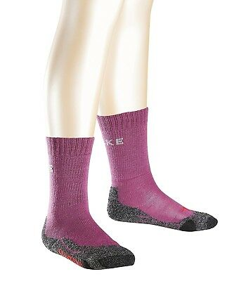 (31-34, Purple - Wildberry) - Falke TK2 Kids Hiking Socks. Delivery is Free