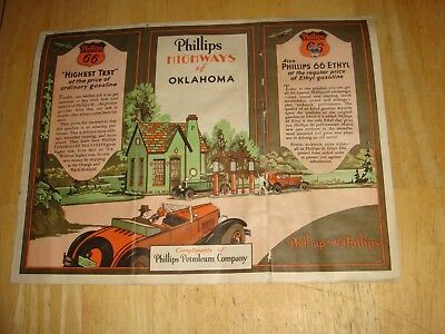 phillips 66 road map of oklahoma