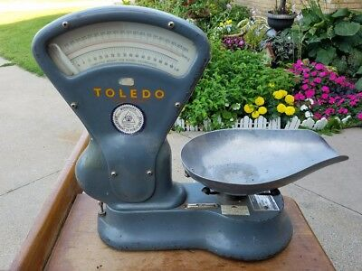 Rare Antique Toledo Grain Scale Model 4604 Vintage Bushel Feed Seed
