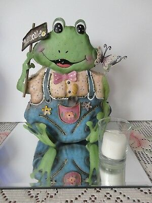 Home Interiors Metal '' Frog '' Candle Lantern  Gorgeous