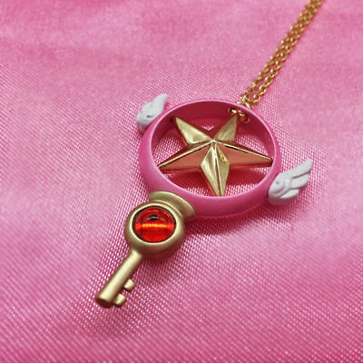 Anime Card Captor Sakura Magic Star Wand Necklace Chain Cosplay Pendant Gift