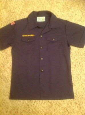 Boy Scouts Of America Short Sleeve Button Front Uniform Shirt-Youth Med Nwot