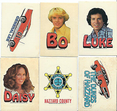 Dukes Of Hazzard - Series 2 - Complete Sticker Card Set (6) Donruss 1981 - EXNM