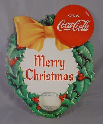 Vintage Coca-Cola Coke Christmas Advertising Cardboard Sign