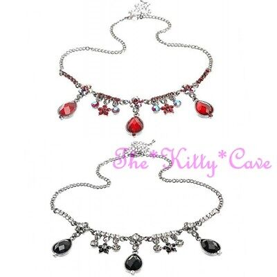 Vintage Hollywood Chic Prom Ball Deco Teardrop Burlesque Crystal Choker Necklace